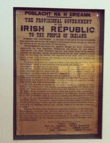 Original copy of the proclamation. On display in the museum.