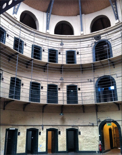 View of the cells on the upper level