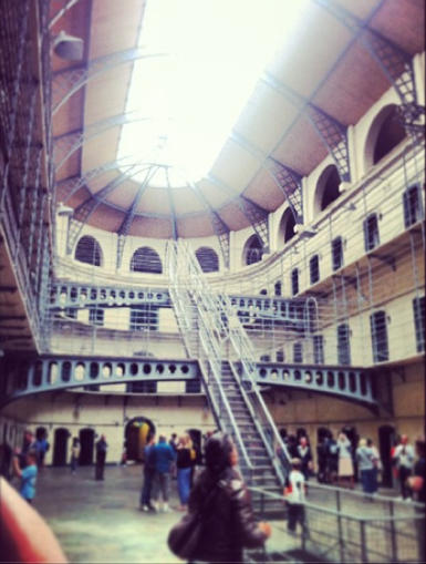 The most recognisable part of the Gaol: used in a myriad of films, including 'Michael Collins'.