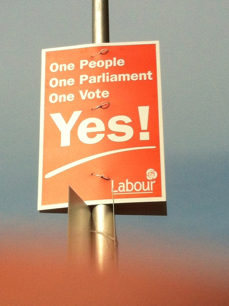 Labour's poster gets to the heart of the issue.