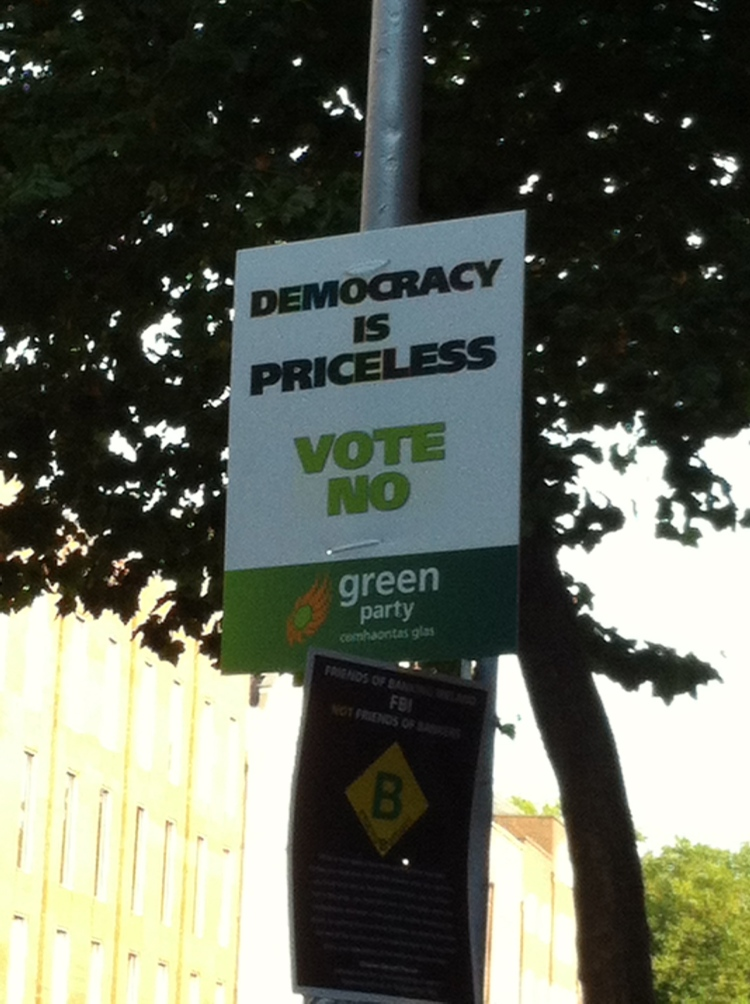 The Greens kept their message plain and simple.