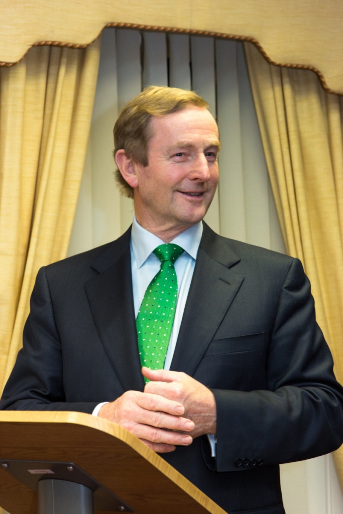 An Taoiseach formally launching the book