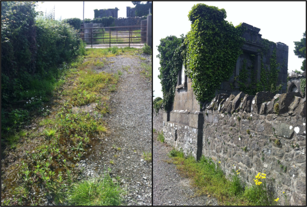 Entrance to St Margaret's Graveyard, St Margaret's Village, Co Dublin.