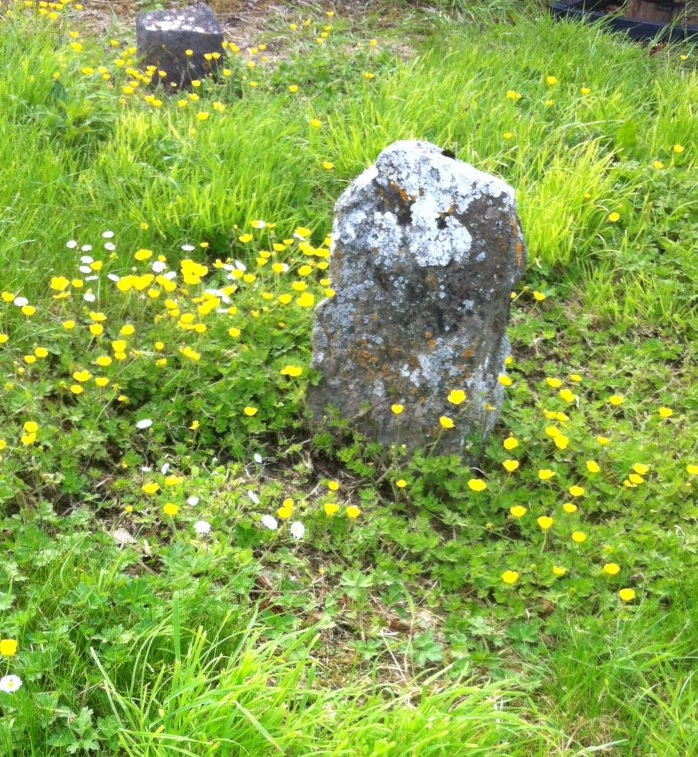 worn and damaged headstones