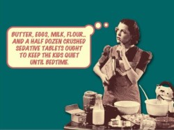 Housewife postcard