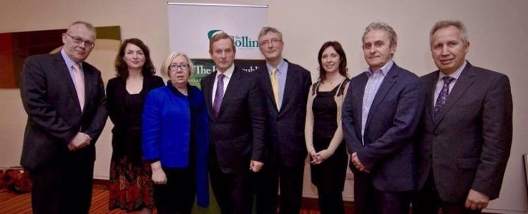 Members of The Collins Institute board and speakers with An Taoiseach at the launch. Photo Credit: The Collins Institute.
