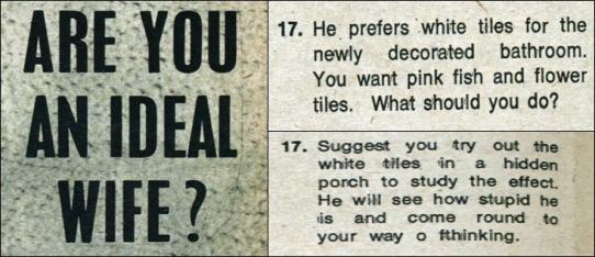 Q17 Ideal Wife quiz